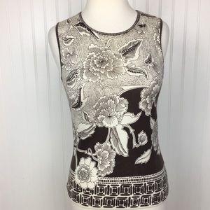 Ann Taylor Loft sleeveless floral print top s/p